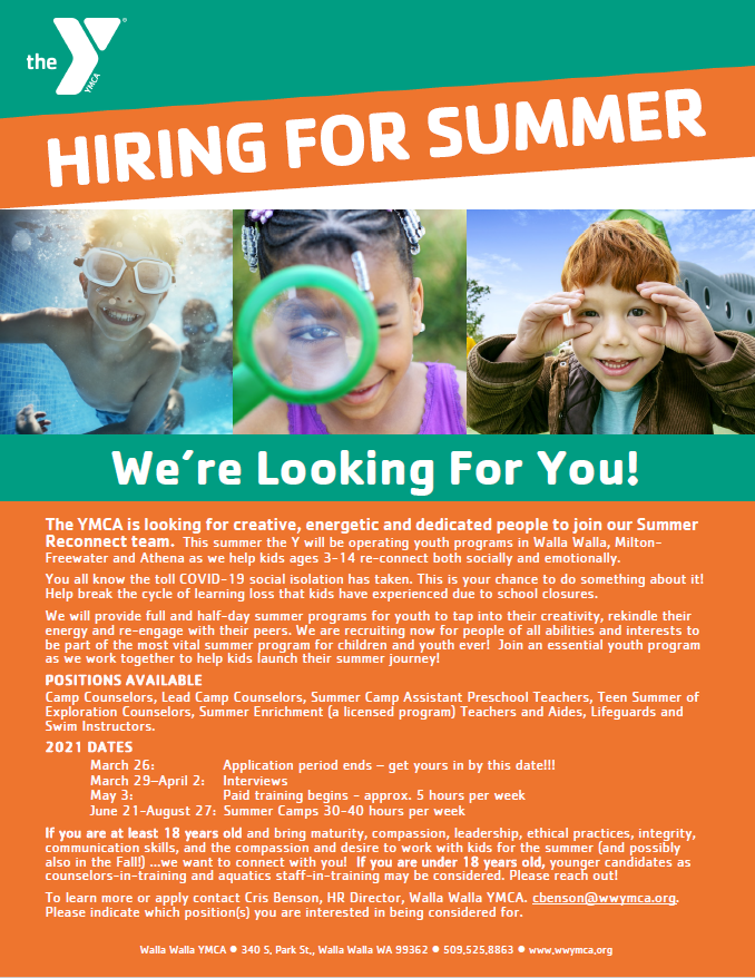 Summer Job Opportunity