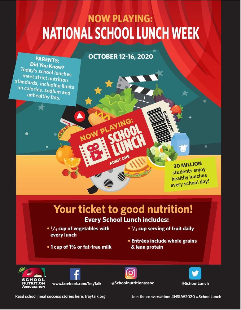 National School Lunch Week 10/12 - 10/16