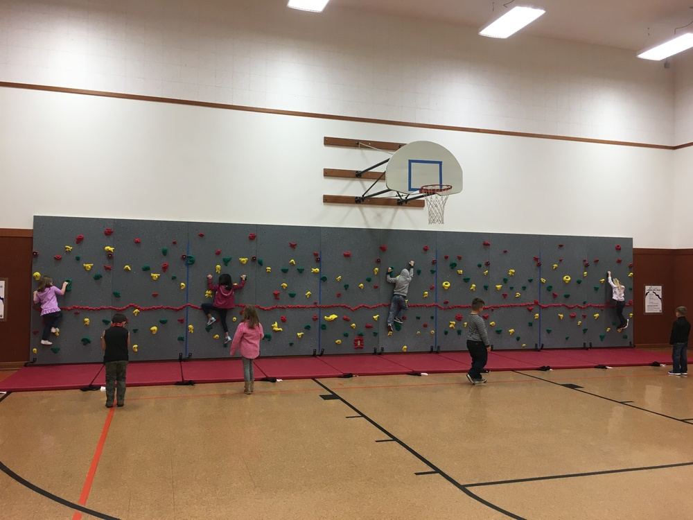 Athena Elementary School Rock Wall