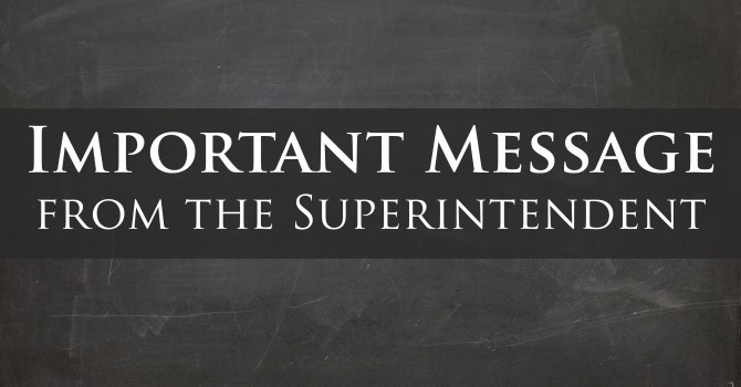 Letter From Superintendent Laure Quaresma